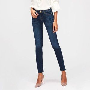 7 For All Mankind The Skinny Size 26 Dark Wash Mid Rise